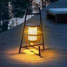 太陽能手提燈風燈草坪燈落地燈led家用可移動臺燈氛圍防水戶外燈 果果輕時尚