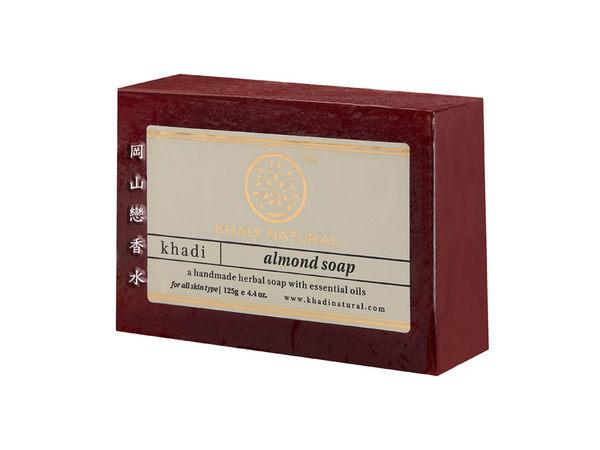 岡山戀香水~印度 Khadi 草本杏仁手工精油香皂125g~優惠價:65元