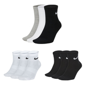NIKE 男三入運動短襪 (三入裝 訓練 襪子 中筒襪 免運 ≡排汗專家≡