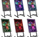 瑩光屏廣告牌LED電子手寫髮光熒光板掛式小黑板掛牆插電亮燈60*80igo 3c優購
