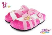 偶像學園 女童拖鞋 中童 防水輕量休閒拖鞋 F5275#粉紅◆OSOME奧森童鞋