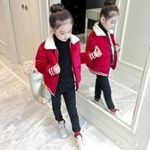 短款女童棉衣 2019新款兒童冬裝小女孩加厚金絲絨棉襖洋氣保暖棉服 YN2242『寶貝兒童裝』