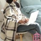 披肩毛毯被子加厚冬季空調毯子懶人蓋毯【匯...