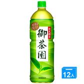 御茶園日式無糖綠茶1250ml*12入/箱【愛買】