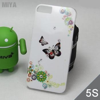 iPhone 5S 5 韓國蝴蝶亮面手機保護殼(無鑽版) 現貨