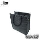 手提袋-編織袋(S)-黑銀-03C