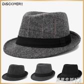 帽子男春秋禮帽男士帽子冬戶外英倫秋冬中老年人爵士帽冬天老人帽 雙十二全館免運
