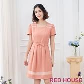 【RED HOUSE 蕾赫斯】簍空蝴蝶結洋裝