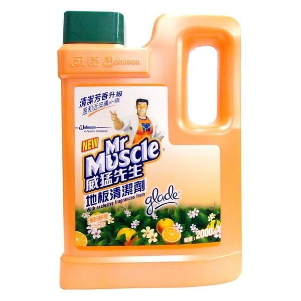 威猛先生 地板清潔劑-清新鮮橙 2000ml【康鄰超市】