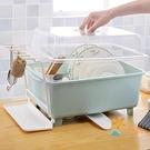 大號塑料碗櫃廚房瀝水碗架帶蓋碗筷餐具收納...