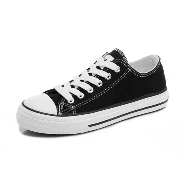 帆布鞋女學生韓版春新款黑布鞋低幫百搭