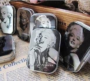 【發現。好貨】韓國文具 zakka雜貨 瑪麗蓮夢露鐵盒 馬口鐵 首飾盒 懷舊鐵盒 收納盒