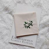 【梔子花】手工刺繡手帕 DIY材料包成品繡字送男友女友閨蜜