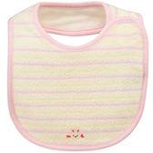 MIKI HOUSE BABY 日本製 無撚紗可愛動物柔軟圍兜