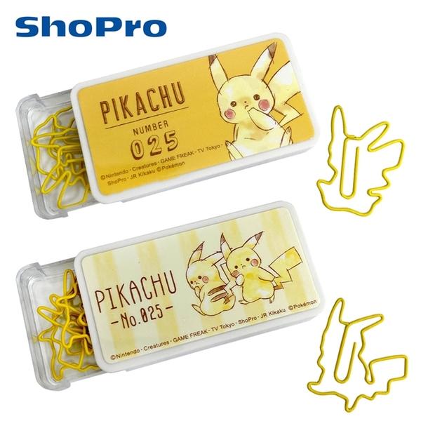 【日本正版】皮卡丘 造型迴紋針 迴紋針 事務用品 寶可夢 神奇寶貝 PIKACHU 417775 417782