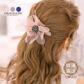髮飾 韓國直送花朵造型髮圈-Ruby s 露比午茶