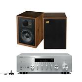 YAMAHA R-N803 網路Hi-Fi擴大機 + WHARFEDALE DENTON 85th 書架喇叭 公司貨