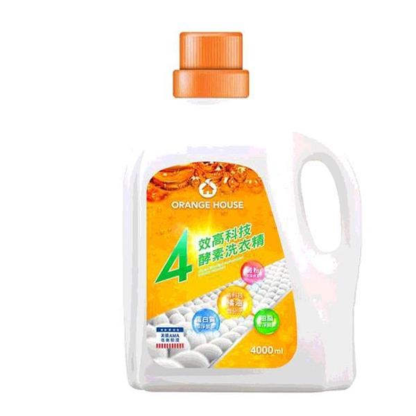 [COSCO代購] C118568 ORANGE HOUSE LAUNDRY 橘子工坊四效酵素洗衣精 4000毫升/100蓋次