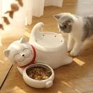 貓咪飲水機陶瓷流動喂水器喝水神器貓用自動循環靜音寵物用品 快速出貨