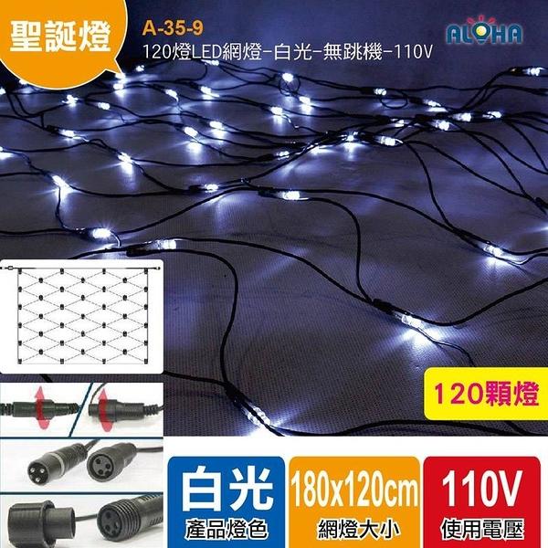 聖誕燈 網燈 120燈LED網燈/白光 無跳機帶尾插 A-35-9