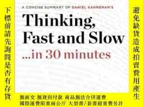 二手書博民逛書店Thinking,罕見Fast And Slow By Daniel KahnemanY255562 30 M
