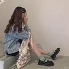 皮鞋2020新款韓版小皮鞋女日系英式制服單鞋黑色中跟百搭JK春天 HR350【極致男人】