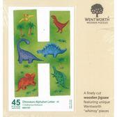 【拼圖總動員 PUZZLE STORY】恐龍字母-H 英國/WENTWORTH/45P/木質