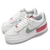 Nike 休閒鞋 Wmns AF1 Shadow 白 綠 桃紅 Air Force 女鞋 【ACS】 CI0919-112