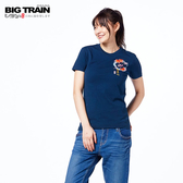 Big Train 櫻花小金魚短袖女款-藍-Z2513956(領劵再折)