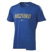 Mizuno 美津濃 [32TA100616] 男 短袖 T恤 運動 休閒 吸汗 速乾 藍