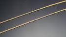 ╭☆ gold shop ☆╯義大利 585 黃K金 項鍊 長度40公分 專櫃款 霧面處理[ kn 046 ]-0.36