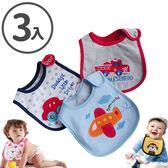 口水巾 Baby Bibs 三層防水圍兜兜 雙面棉質圍兜(3條裝) CA11801