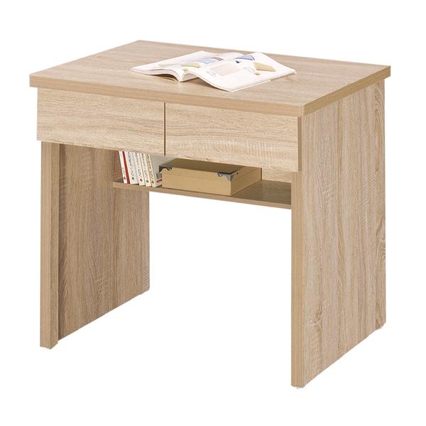 【采桔家居】雪倫 時尚2.7尺二抽書桌/電腦桌(四色可選)