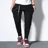 【胖胖森林】中大尺碼‧高品質黑色彈力工裝褲30-48‧加大【D1-994080】