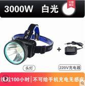 頭燈LED頭燈強光充電感應礦燈釣魚燈頭戴式防水超亮手電筒多功能夜釣 曼莎時尚