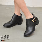 短靴 側方釦低跟短靴- 山打努SANDA...