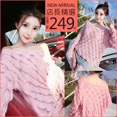 克妹Ke-Mei【AT54962】韓國東大門CHIC浪漫粉花瓣寬鬆毛衣