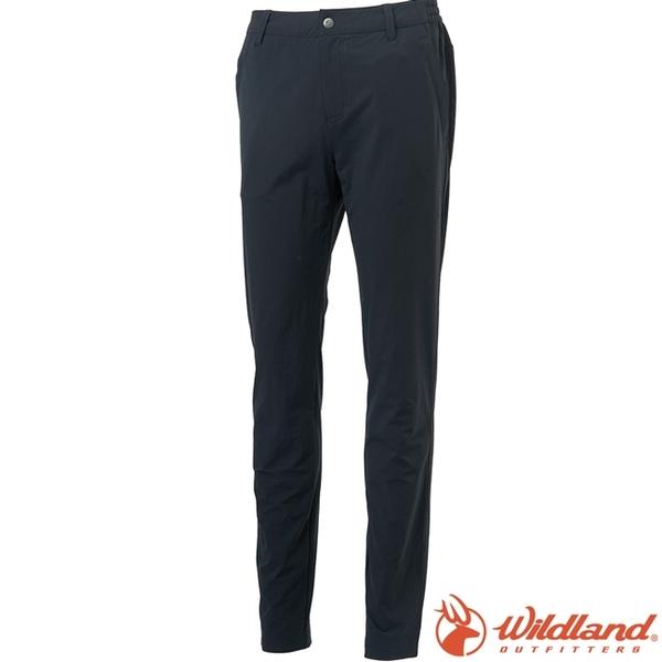 Wildland 荒野 S2375-54黑色 女彈性四季款長褲 直筒合身/防潑機能褲/爬山健行/運動休閒褲*