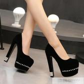 夜店恨天高女鞋18cm/20公分超高跟涼鞋 粗跟舞台演出鞋車模走秀鞋  雙12購物節