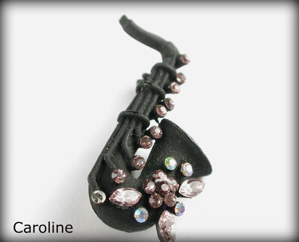 《Caroline》施華洛世奇水晶鑽造型小胸針1073