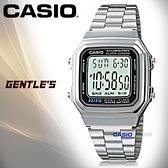 CASIO手錶專賣店 卡西歐 A178WA-1A 男錶 電子錶 壓克力強化鏡面 LED背光照明 不銹鋼錶帶