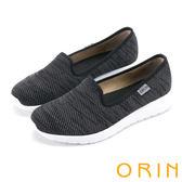 限時特賣-ORIN 引出度假氣氛 異國風情透氣平底便鞋-黑色