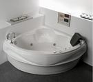 【麗室衛浴】BATHTUB WORLD 壓克力造型浴缸 角落浴缸 扇形浴缸 W-CH-3101 127*127*55CM含活動前牆1面