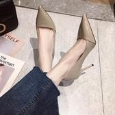 紅色高跟鞋女細跟2020新款百搭性感單鞋尖頭法式少女漂亮年會女鞋