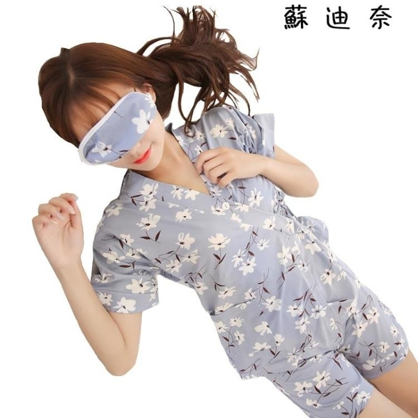 棉質睡衣 日式和服睡衣女夏純棉質短袖可愛家居服