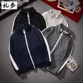 加絨衛衣男士學生休閒韓版套頭立領運動開衫外套
