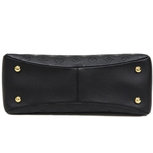 Louis Vuitton LV M43719 PONTHIEU PM 經典花紋皮革壓紋手提兩用包.黑 全新 預購【茱麗葉精品】