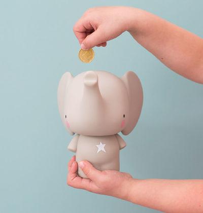 【荷蘭 A little lovely company】造型存錢筒 - 小灰象 #MBELGR05