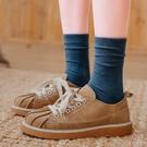 棉襪女中筒襪棉襪素色長筒襪中長款堆堆襪秋冬季【少女顏究院】
