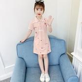 洋裝 女童連身裙夏裝2020新款網紅兒童裙子洋氣3小女孩棉布裙6T恤裙9歲 朵拉朵YC